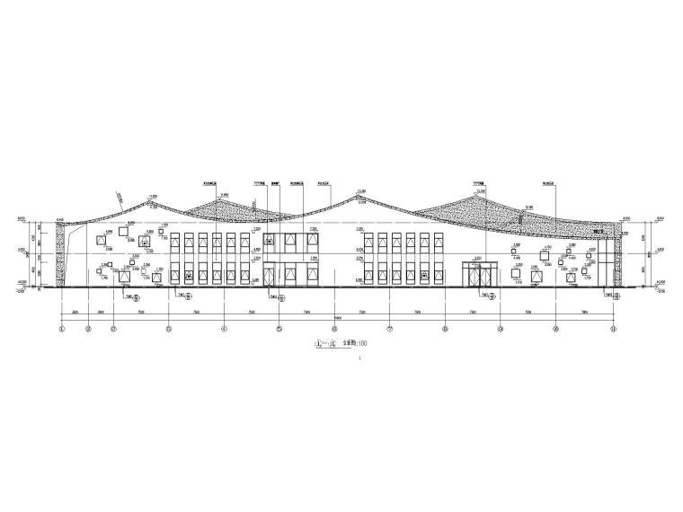 [江苏]坡屋顶三层配套商业施工图CAD2020_6