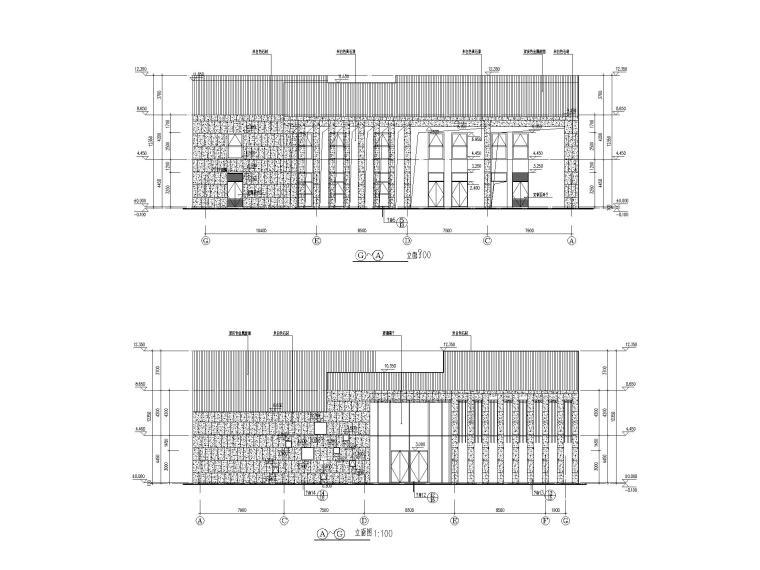 [江苏]坡屋顶三层配套商业施工图CAD2020_7