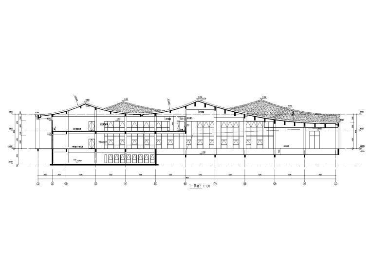 [江苏]坡屋顶三层配套商业施工图CAD2020_8