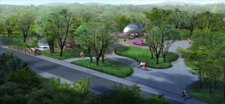 公园园林景观设计案例效果图_5