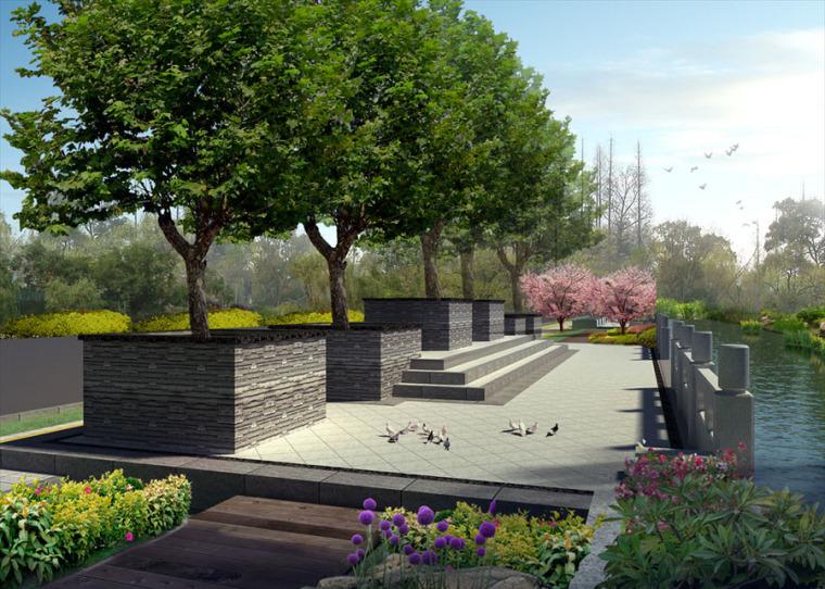公园园林景观设计案例效果图_2