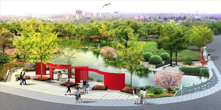 公园园林景观设计案例效果图_13