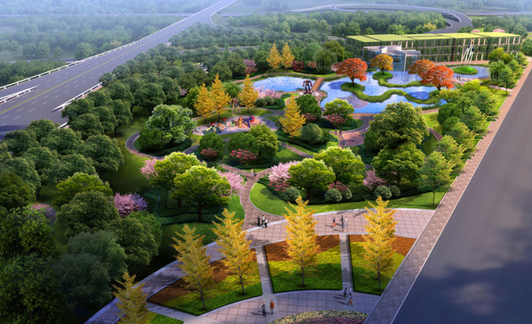 公园园林景观设计案例效果图_20