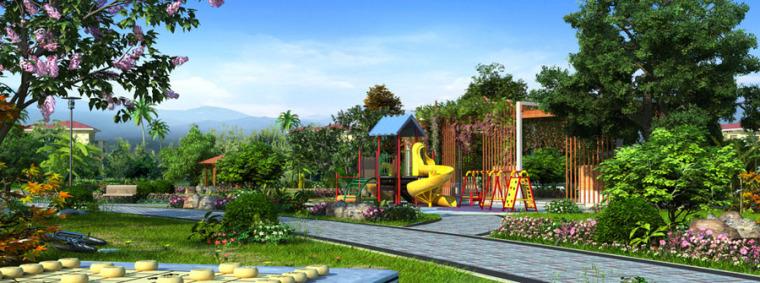 公园园林景观设计案例效果图_15