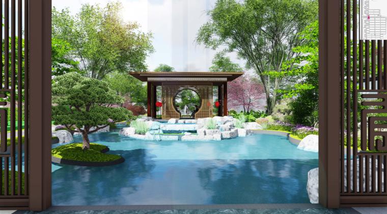[辽宁]新中式风高端府邸大宅景观方案设计_3