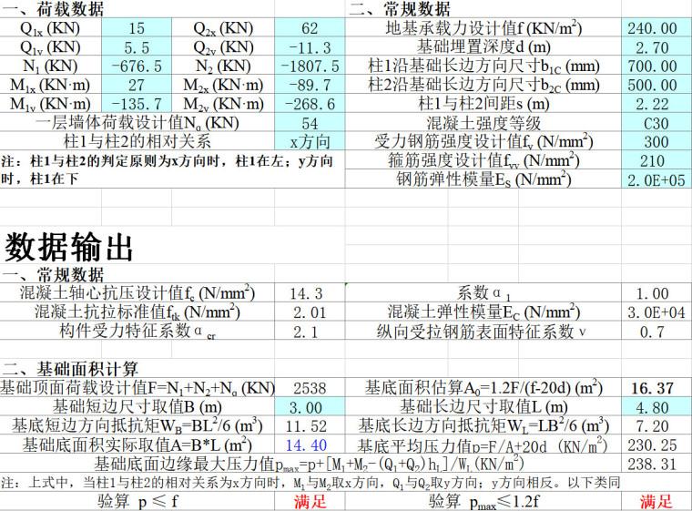 [一键下载]170篇房建结构计算表格Excel_2
