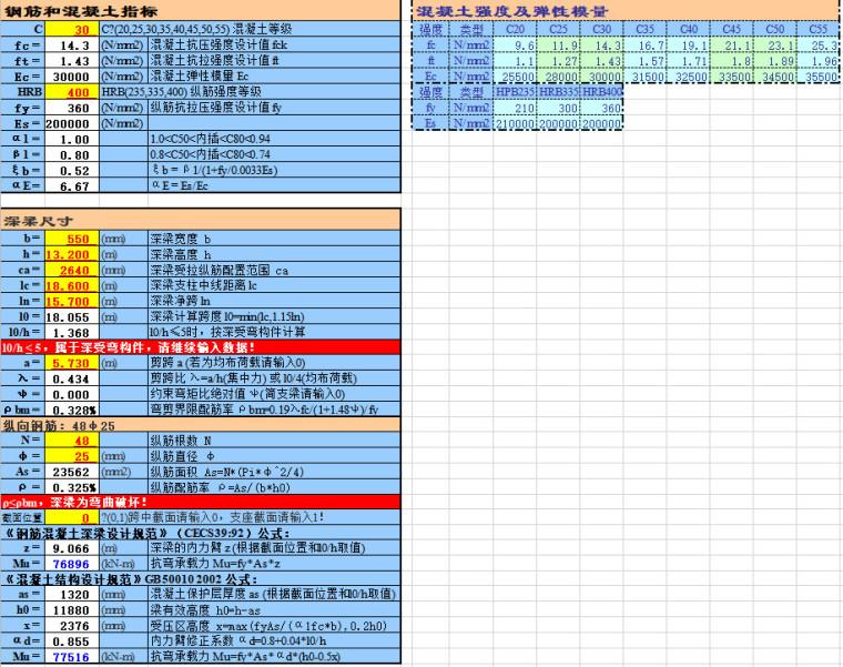 [一键下载]170篇房建结构计算表格Excel_9