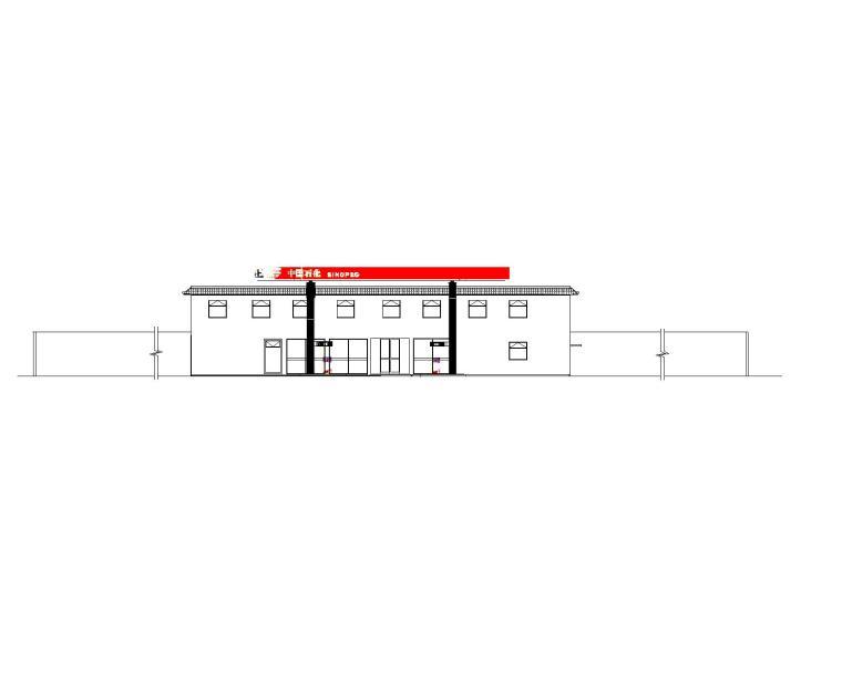 [贵州]加油站装修工程建筑施工图2019_1