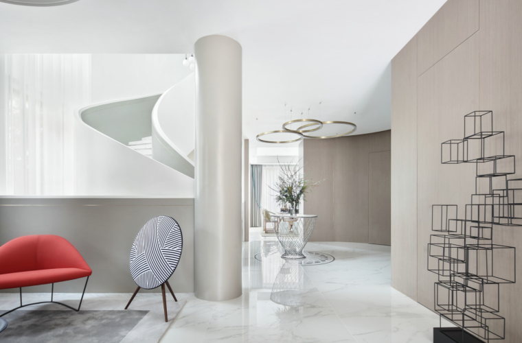 [四川]现代简约风格二层别墅室内3D模型_4