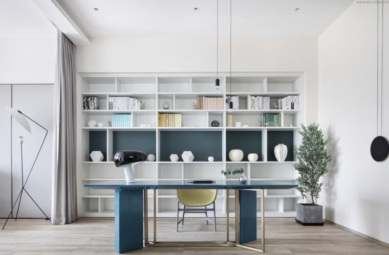 [四川]现代简约风格二层别墅室内3D模型_2