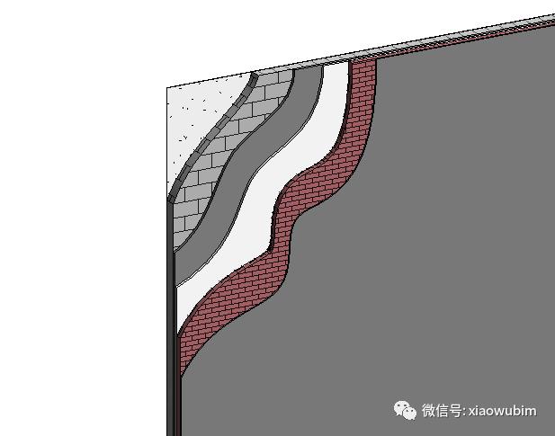 Revit中墙面分层展示的创建_12