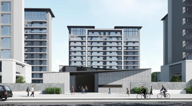 [浙江]新中式风112亩高层+多层住宅建筑方案_1