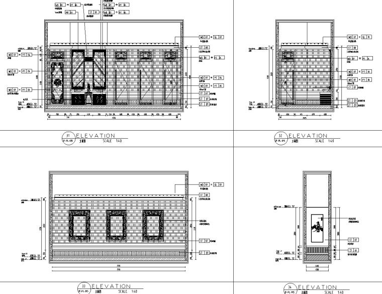 [云南]昆明中式风连锁火锅店装修施工图设计_7