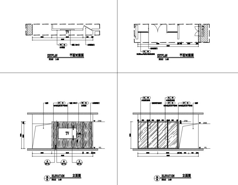 中国石油现代风格办公空间装修施工+机电图_8