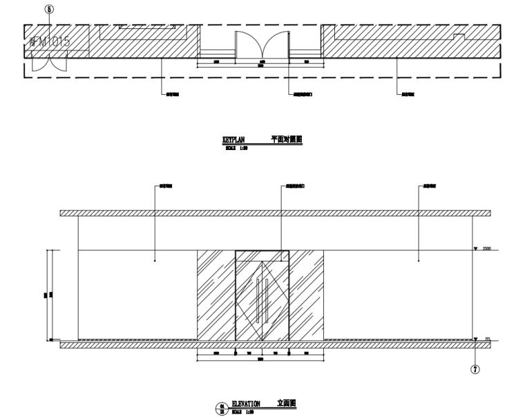 中国石油现代风格办公空间装修施工+机电图_6