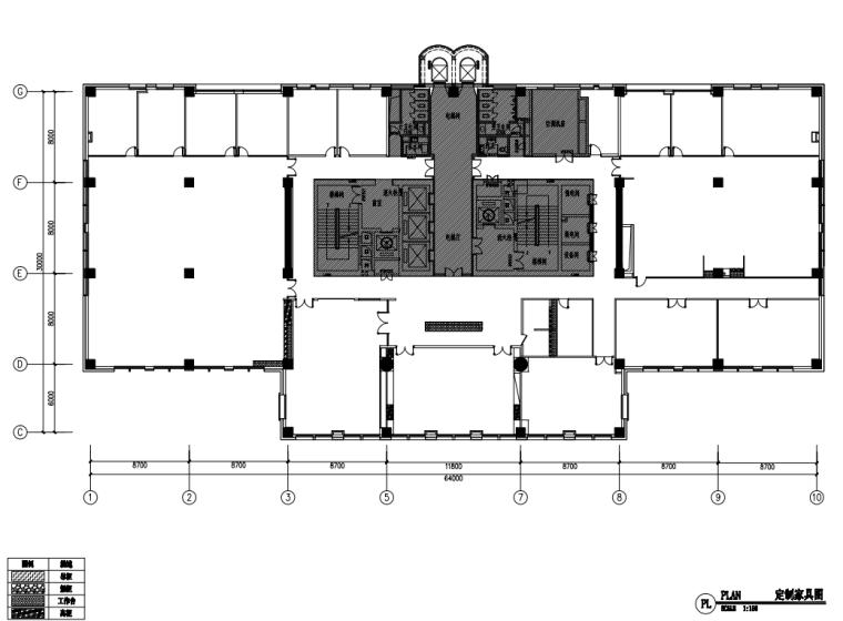 中国石油现代风格办公空间装修施工+机电图_4