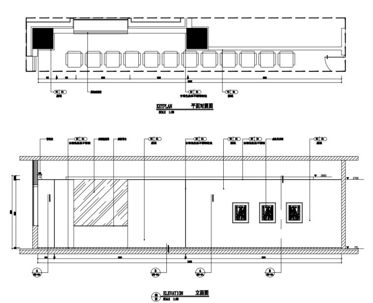 中国石油现代风格办公空间装修施工+机电图_9