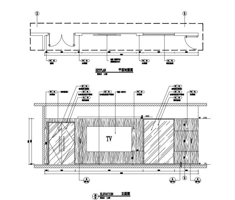 中国石油现代风格办公空间装修施工+机电图_10