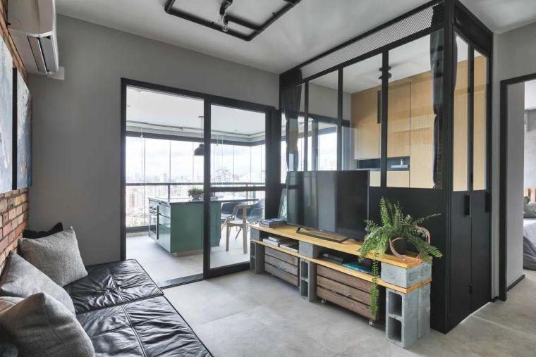 49平米小户型单身公寓,简净冷冽的氛围_3