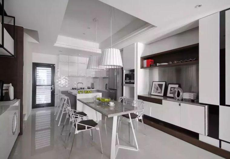 开放式厨房,可以怎么设计?_31