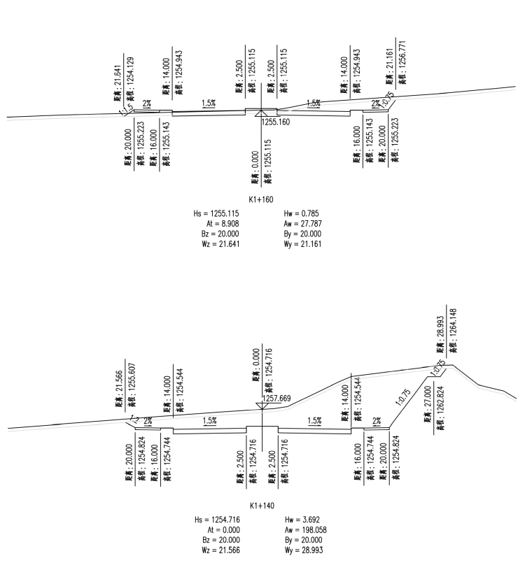 [贵州]主干路双向六车道道路施工图设计2020_6