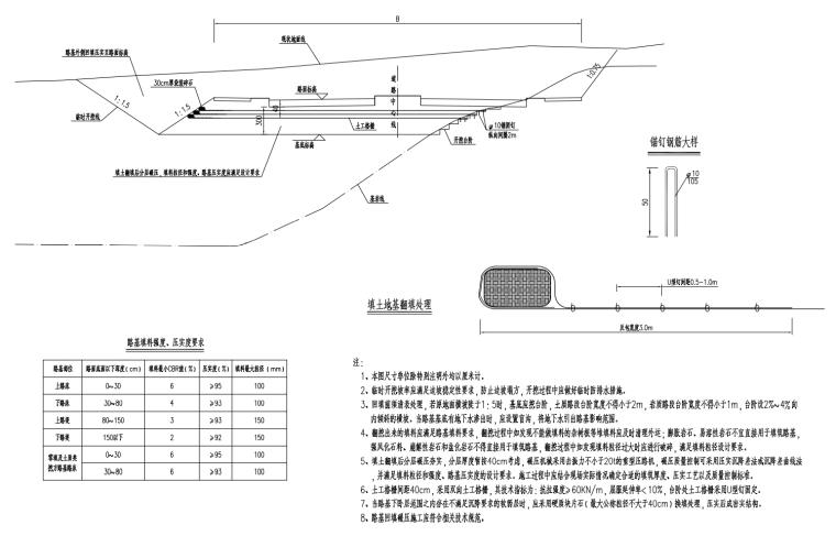 [贵州]主干路双向六车道道路施工图设计2020_10