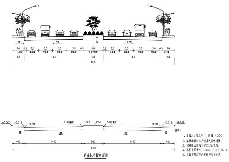 [贵州]主干路双向六车道道路施工图设计2020_5