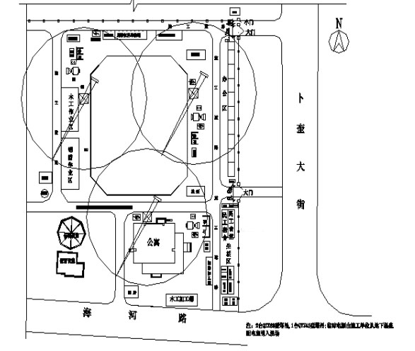 [哈尔滨]高层框剪结构公寓施工组织设计2019-2 施工现场平面布置图.png