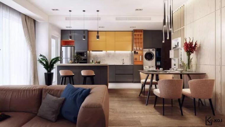开放式厨房,可以怎么设计?_34