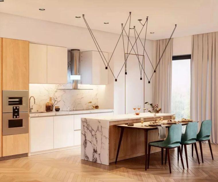 开放式厨房,可以怎么设计?_21