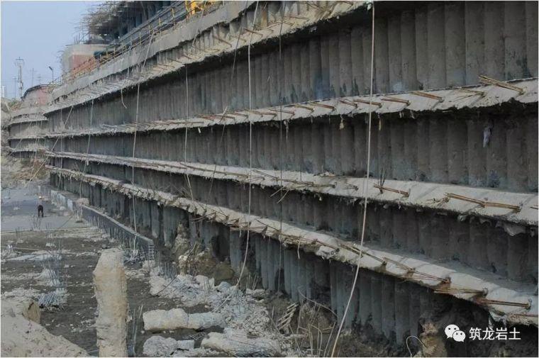 常见基坑支护结构形式,结构图及实景图解说_42