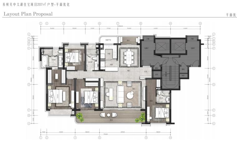 [江苏]未来科技生态复合新城住宅样板房方案_11
