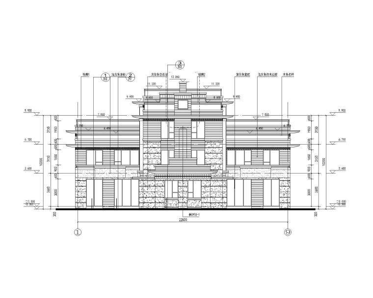 [贵州]大型商业建筑群砂岩建筑施工图_3