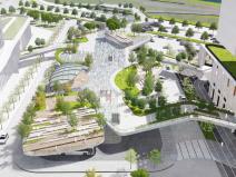 [广东]都市潮汐景观跨街公园景观概念设计
