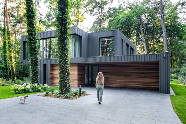 波兰融入森林的住宅_2