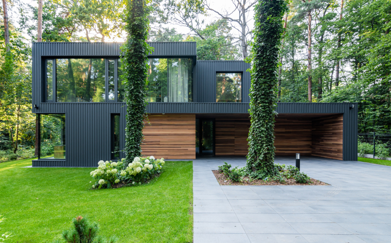 波兰融入森林的住宅_9