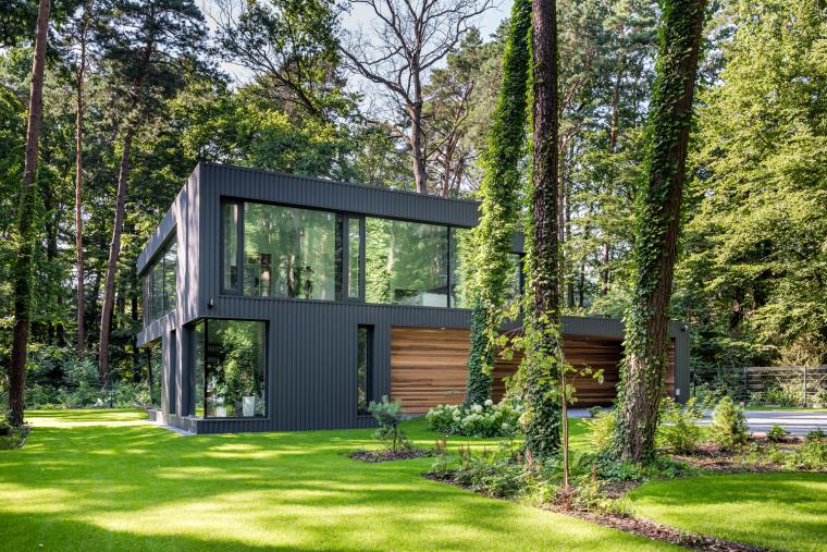 波兰融入森林的住宅_7