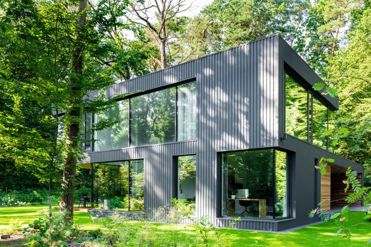 波兰融入森林的住宅_8