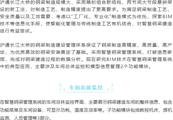 沪通长江大桥智慧钢梁BIM应用_2