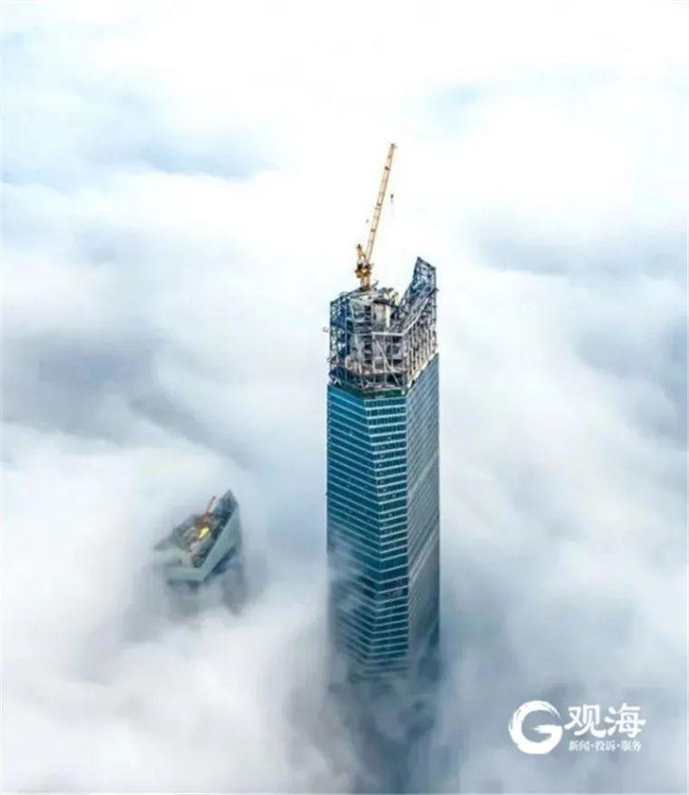 """一泵到顶!""""青岛第一高楼""""建成投运_1"""