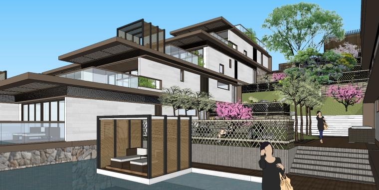 [浙江]新中式-山地别墅公寓+整体模型2020_1