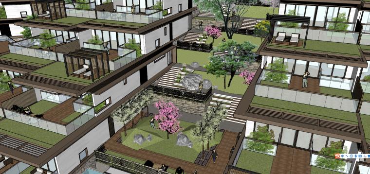 [浙江]新中式-山地别墅公寓+整体模型2020_3