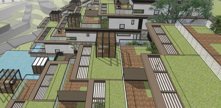 [浙江]新中式-山地别墅公寓+整体模型2020_4