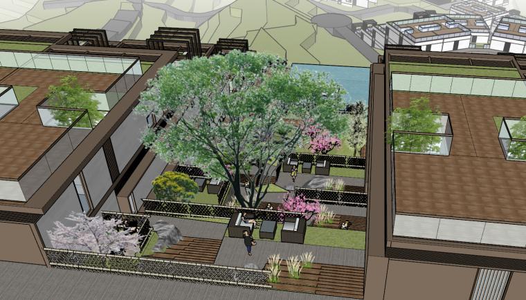 [浙江]新中式-山地别墅公寓+整体模型2020_2
