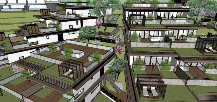 [浙江]新中式-山地别墅公寓+整体模型2020_6