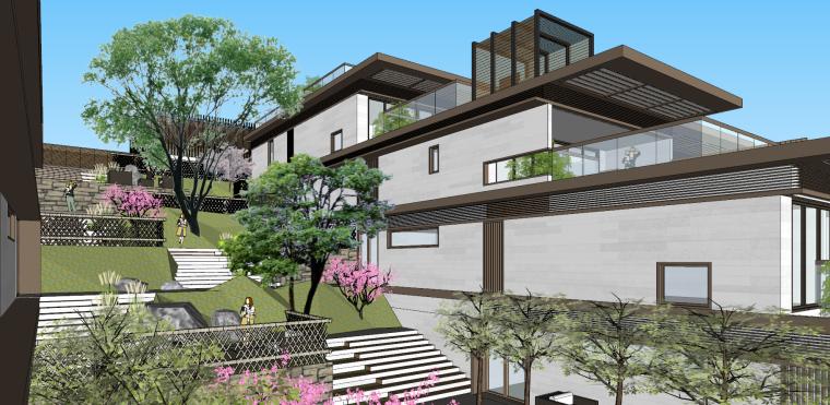 [浙江]新中式-山地别墅公寓+整体模型2020_9