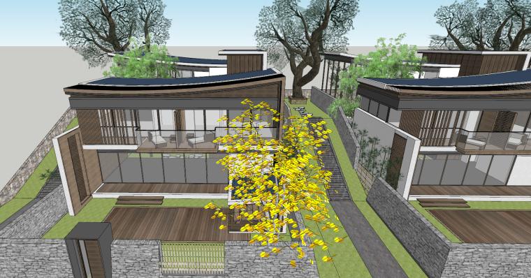 [浙江]新中式-山地别墅公寓+整体模型2020_16