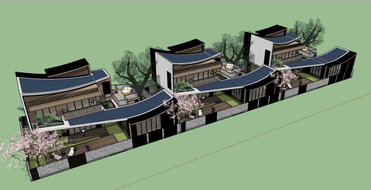 [浙江]新中式-山地别墅公寓+整体模型2020_11