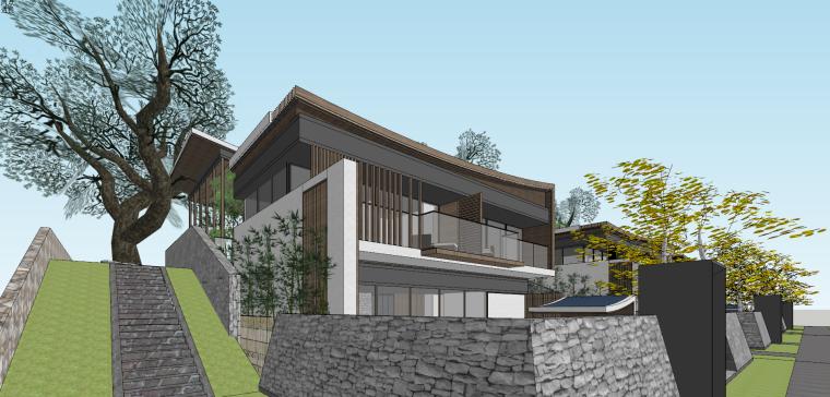 [浙江]新中式-山地别墅公寓+整体模型2020_18