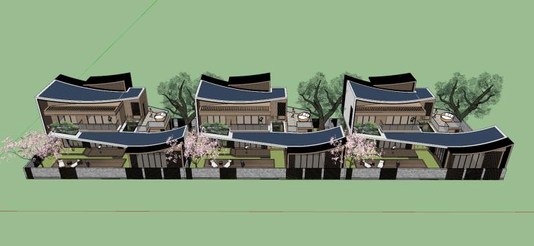 [浙江]新中式-山地别墅公寓+整体模型2020_12